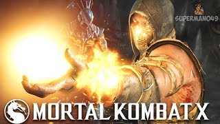 "PLAYING HELLFIRE SCORPION FOR THE FIRST TIME IN YEARS! - Mortal Kombat X: ""Scorpion"" Gameplay"