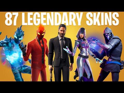 FORTNITE ALL LEGENDARY SKINS (All 11 Season Skins)