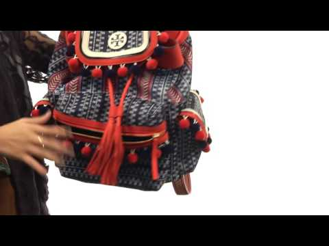 53b5de85768 Tory Burch Scout Nylon Pom Pom Backpack SKU 8843808