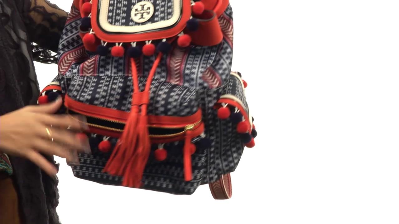 74648f55e52 Tory Burch Scout Nylon Pom Pom Backpack SKU 8843808 - YouTube