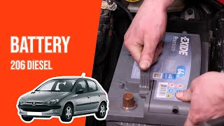 [ TUTORIAL DIESEL PEUGEOT 206 ] How to change the battery
