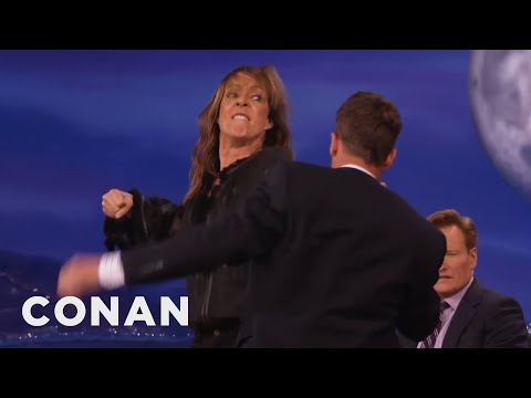 Allison Janney Will Kick Your Ass!   CONAN on TBS