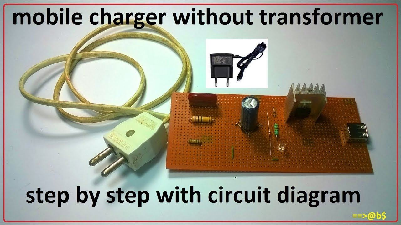 how to make mobile charger without transformer cheapest cell phone charger [ 1280 x 720 Pixel ]