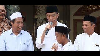 Kata Santri, Presiden Jokowi 'Khalifah Kami' Khalifah NKRI (Lantas Cium Tangan Presiden 2 Kali)