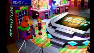 Final Fantasy VII ff7 arm wrestling in Wonder Square at the Gold Saucer