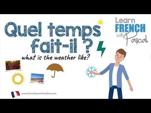 What Is The Weather Like In French With Pascal