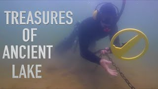 Metal Detecting ANCIENT LAKE!! Found OLD Rings & Much MORE From Boat Underwater