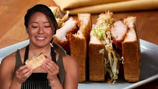 Chicken Katsu Sandwich With Hitomi • Tasty