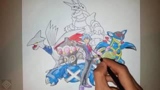 Champion Steven (Hoenn Pokemon League) - Speed Drawing | Labyrinth Draw