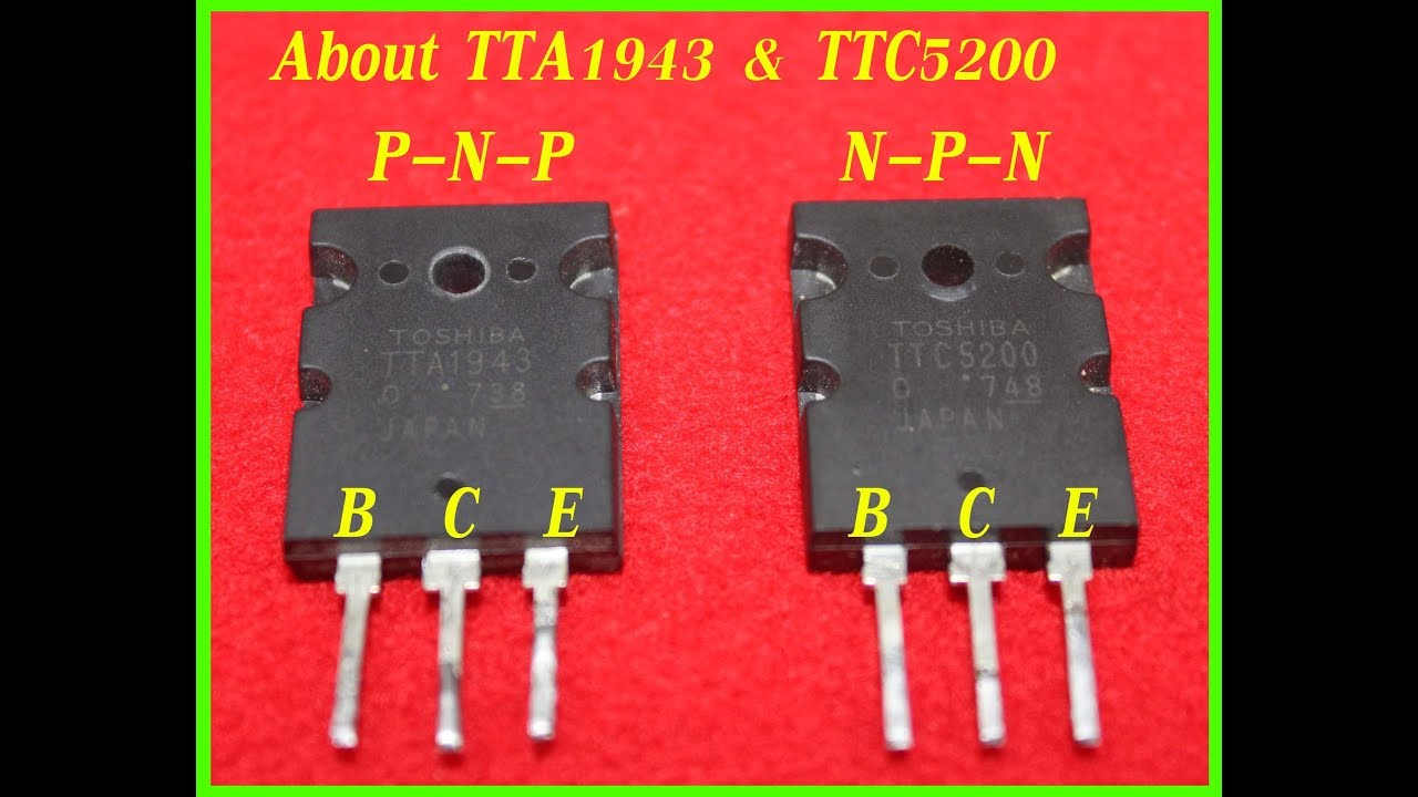 Ttc5200 And Tta1943 Transistor For Amplifier Circuit