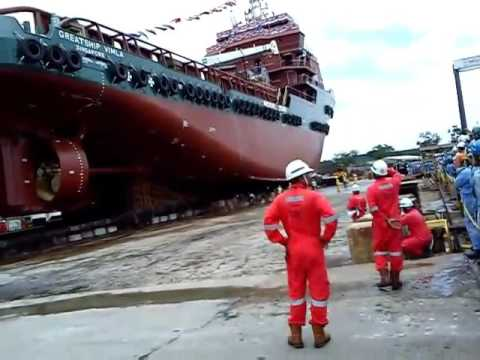 Singapore launching ship me working 2012