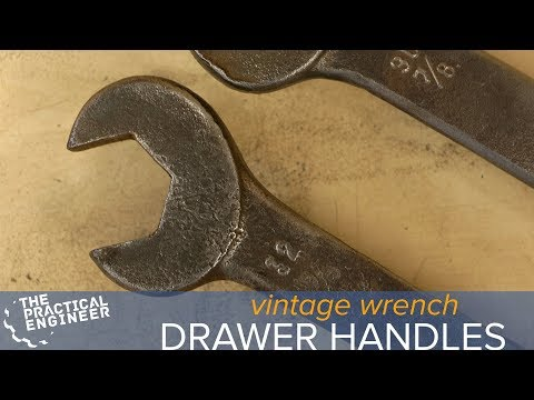 Turn old metal wrenches into drawer handles with Emiel