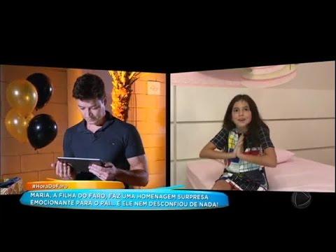 Rodrigo Faro Se Emociona Com Surpresa Da Filha Maria