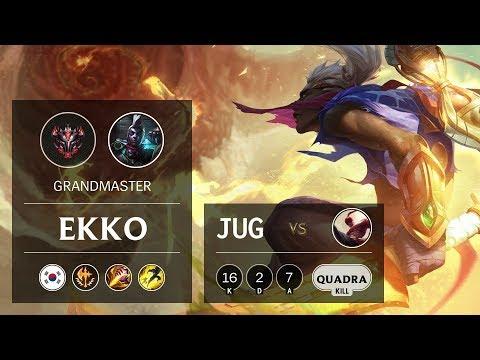 Ekko Jungle vs Lee Sin - KR Grandmaster Patch 9.22
