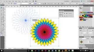 Illustrator: How to make flower in Illustrator step by step [new 2015]