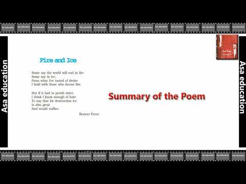 Poem 2 Fire and Ice (English - First Flight, CBSE, Grade 10) Summary in Hindi