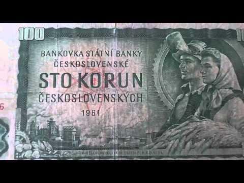 100 STO Korun - Old money of the Ceskoslovenskych of 1961