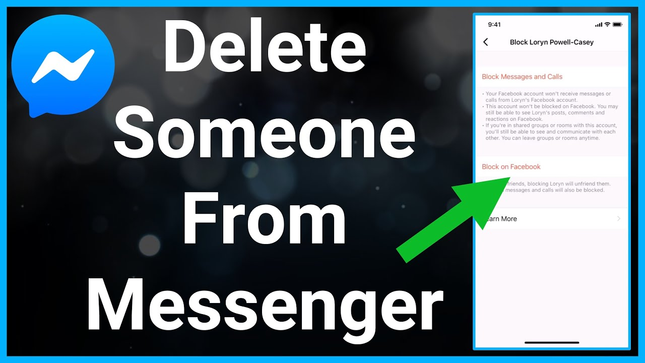 How To Remove Someone From Facebook Messenger - YouTube