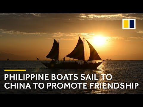 Three Philippine boats sail from Manila to Xiamen, China to