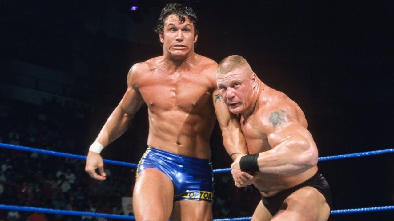 Brock Lesnar Battles Randy Orton For The First Time Smackdown Sept 5 2002 Youtube