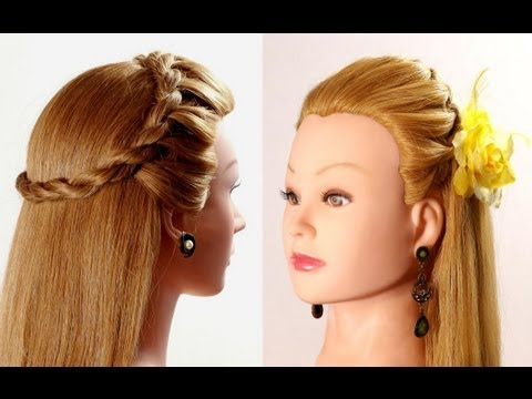 Simple Hairstyles For Long Hair Youtube : Easy hairstyle for every day. Hairstyles for long hair - YouTube