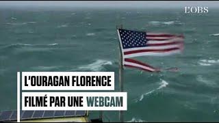 Une webcam filme l'ouragan Florence qui atteint les Etats-Unis