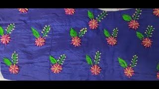 Easy Flower design హ్యాండ్వర్క్ బ్లౌస్ designs |బ్లౌజ్ designs |Handwork Embroidery|Blouse designs