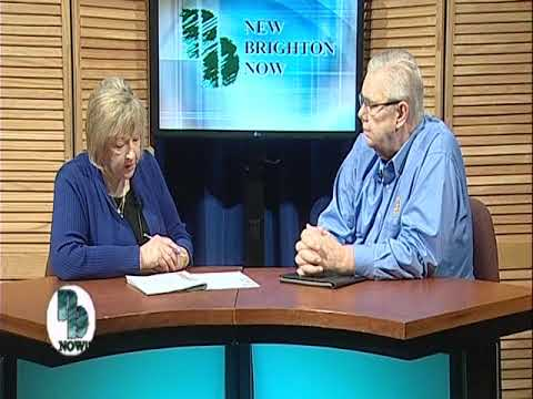 Rotary Club President Gerry Tietz is interviewed on New Brighton Now