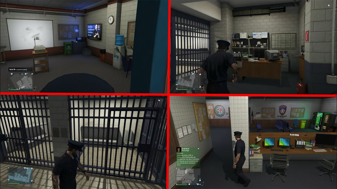 visite du commissariat de police sur gta 5 prison vestiaires bureau youtube. Black Bedroom Furniture Sets. Home Design Ideas