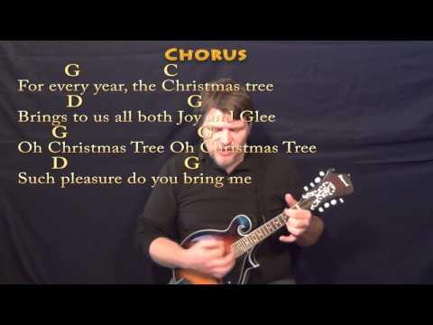 Oh Christmas Tree (CHRISTMAS) Mandolin Cover Lesson in G with ...