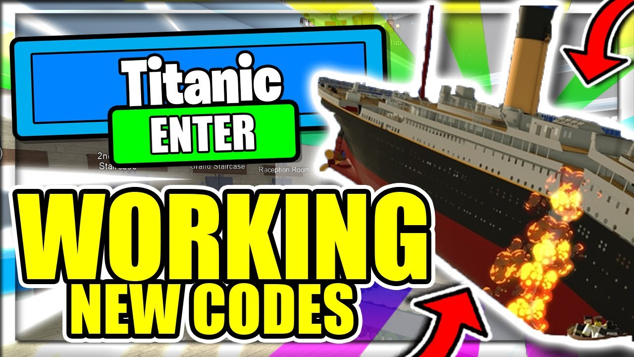 All New Secret Op Working Codes Roblox Titanic Youtube