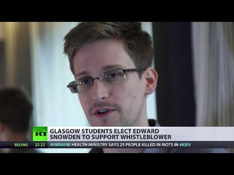 Student Support: Snowden elected rector at Glasgow University