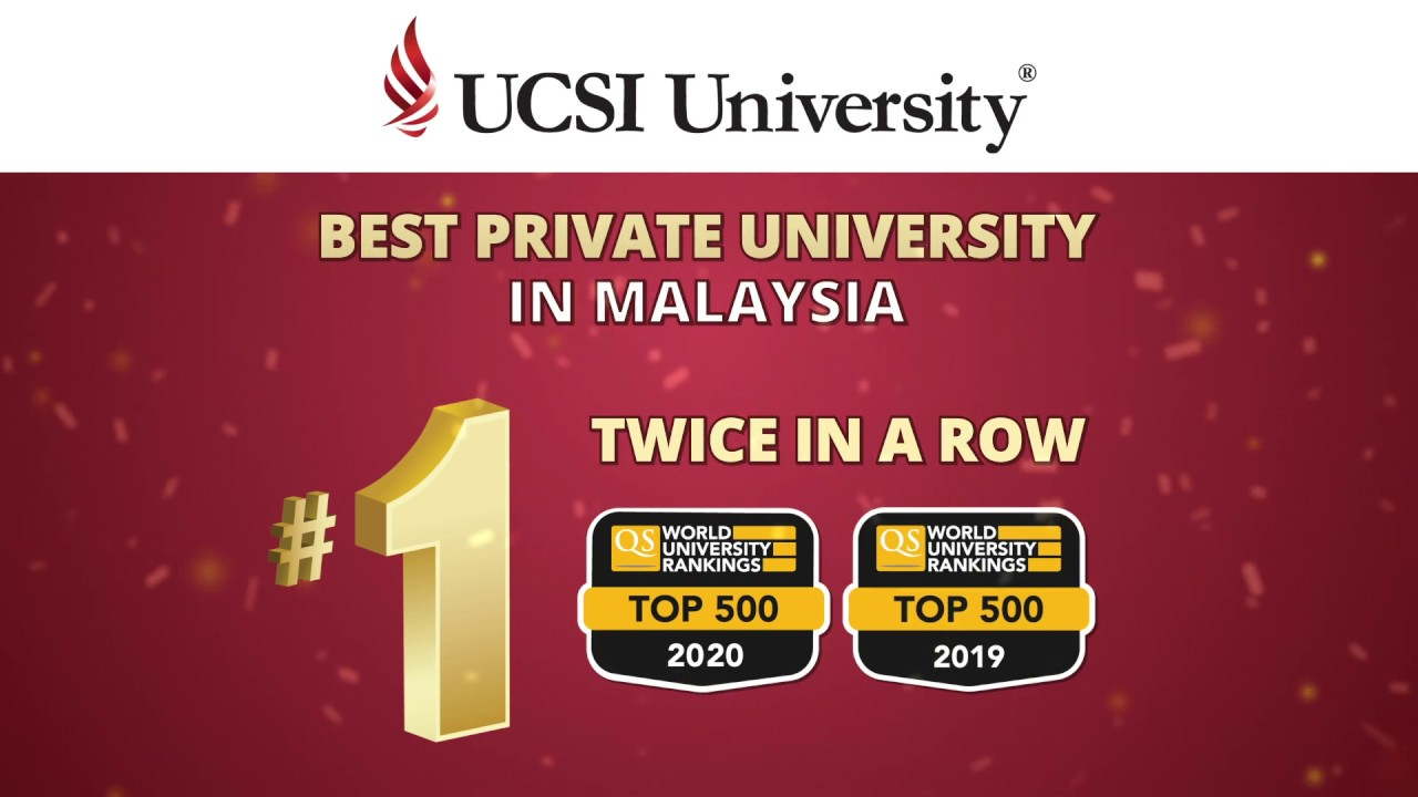 Ucsi University 1 Private University In Malaysia Qs Ranking 2020 Youtube