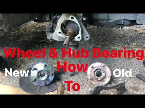 HOW TO REPLACE FRONT WHEEL BEARING ON YOUR CAR / 2007 SATURN AURA WHEEL & HUB BEARING REPLACEMENT