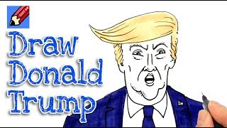How to draw President Trump Real Easy - Step by step