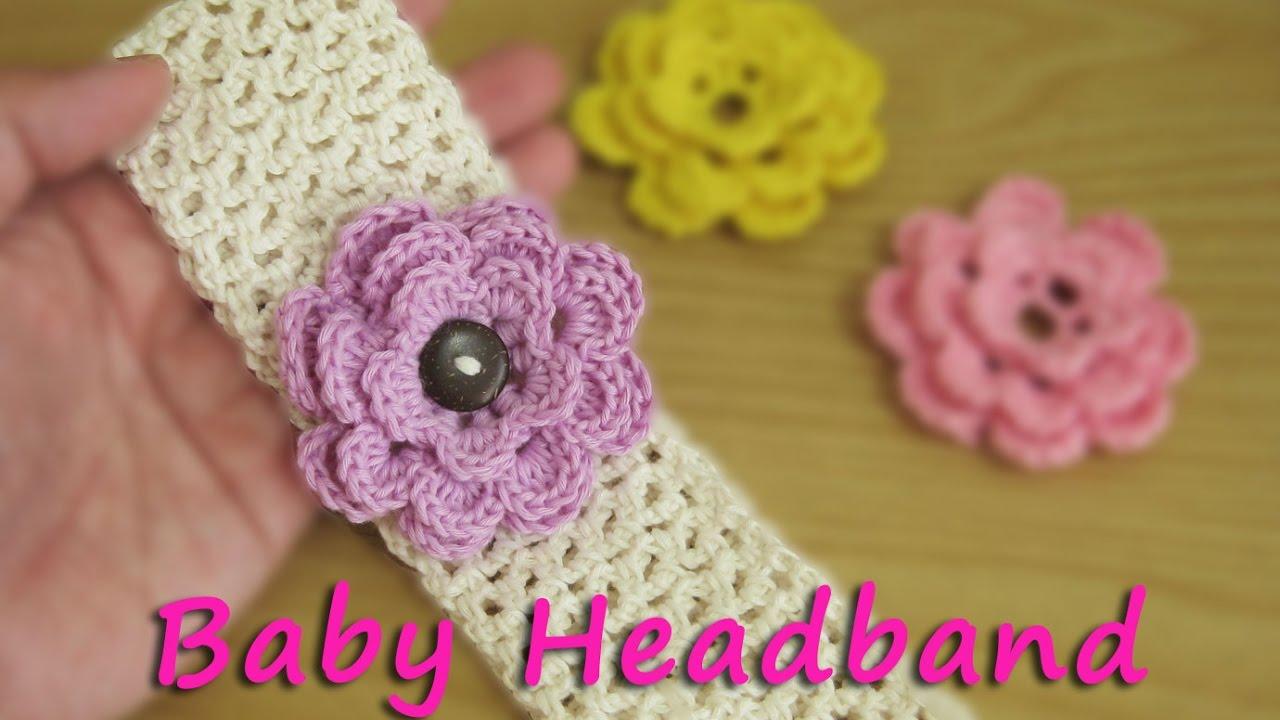 Crochet Tutorial Rajut Bandana Bayi Baby Headband Youtube