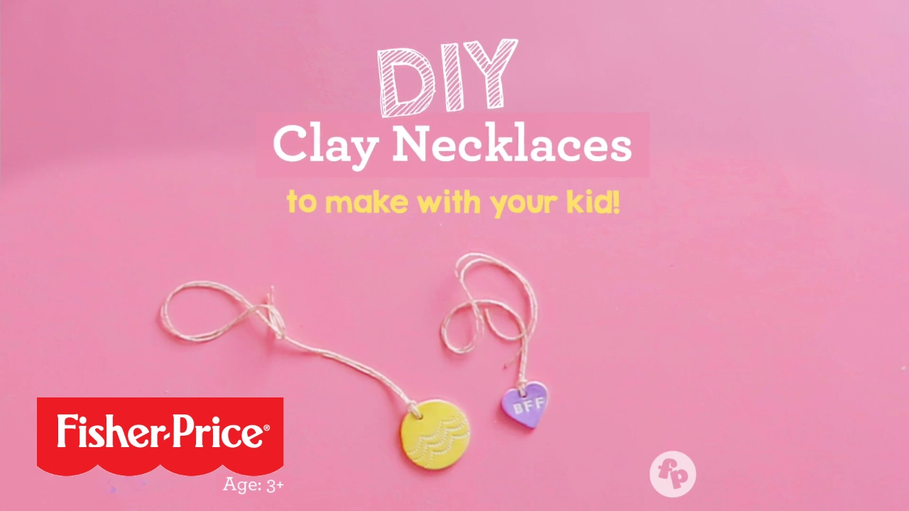 How to make clay necklaces crafts and diy activities for kids how to make clay necklaces crafts and diy activities for kids fisher price solutioingenieria Choice Image