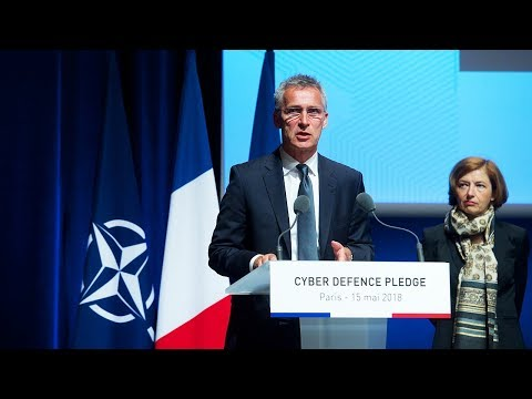 NATO Secretary General at the Cyber Defence Pledge Conference, Paris, 15 MAY 2018
