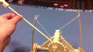 Leonardo Da Vinci Catapult Kit In Action!
