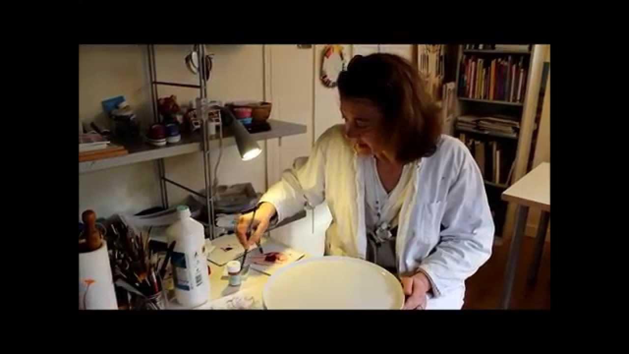 Tuto Peinture Sur Porcelaine vidéo jema - peinture sur porcelaine avec alix de latour-lasserre - atelier  fleur de kaolin