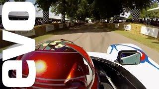 فيديو: قيادة تخطف الأنفاس لمتسابقة بورش LMP1-98 بمهرجان جودوود
