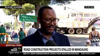 Road construction projects stalled in Mangaung Metro