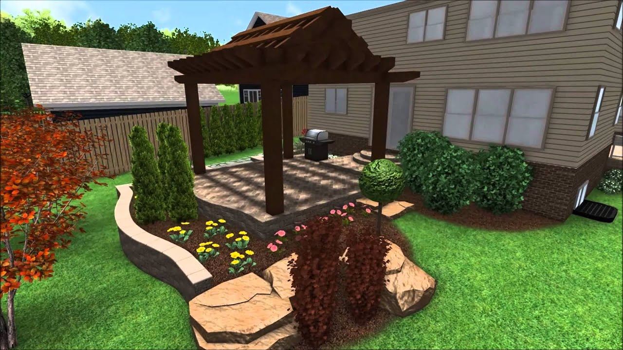landscape design 3d walkthrough