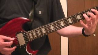 "Airbourne, ""No Way But The Hard Way"" Rhythm guitar cover."