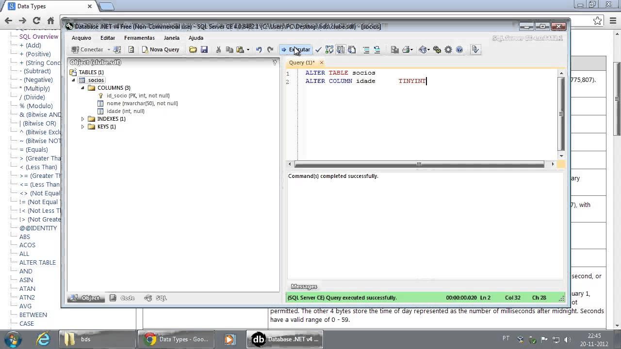 055 sql alter table adicionar e remover colunas e alterar - Alter table change data type sql server ...