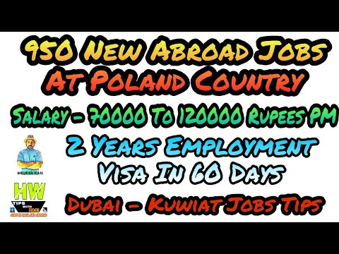 Abroad Jobs AT Poland, Kuwait, Or DUBAI, Countries, Pasi COMPETITION, South  Korea Tips With Pasi