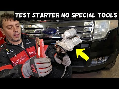 HOW TO TEST STARTER ON FORD EDGE FLEX EXPLORER FUSION TAURUS LINCOLN MKX MKZ F150