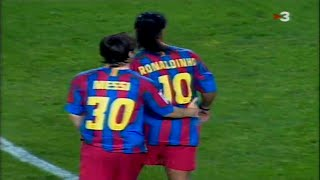 Prime Ronaldinho & 18 Year Old Messi ● MAGIC Show Vs Osasuna 2005