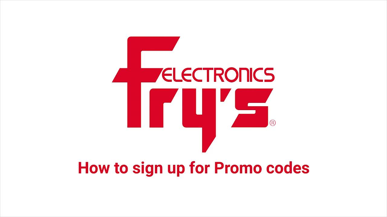 How to Sign up for Fry\'s PromoCodes - YouTube