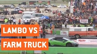 Lamborghini Races A Farm Truck | City vs Farm